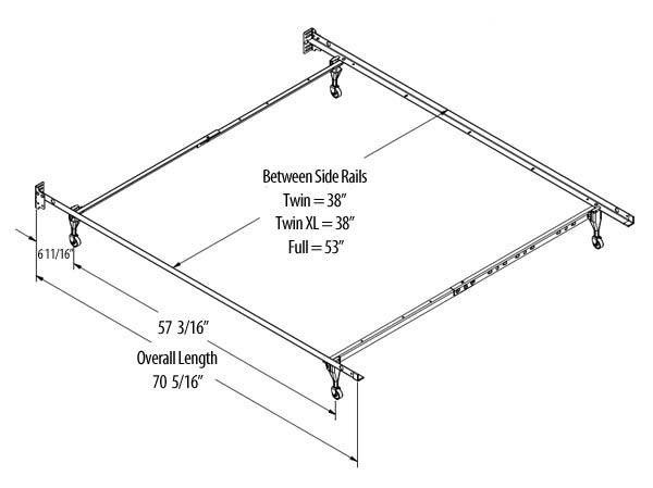 Width Bed Frame Twin