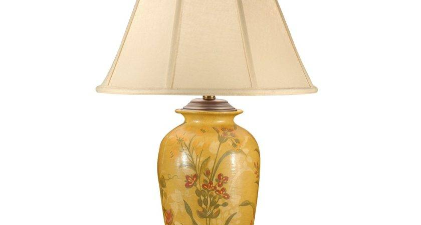 Wildwood Flowers Yellow Table Lamp Atg Stores