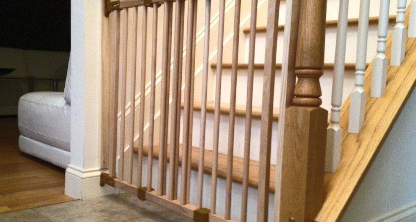 Williamsburg Natural Wood Safety Gate Baby Proofing