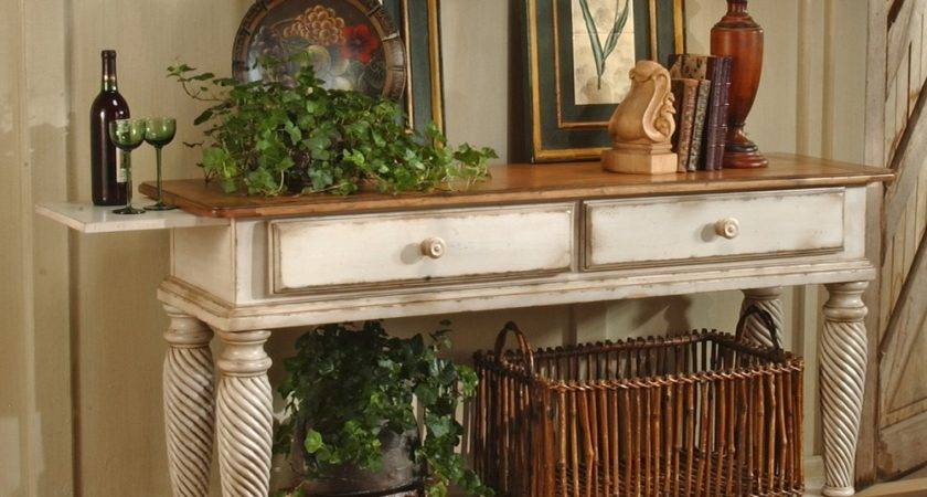 Wilshire Wood Sideboard Table Pine Antique White