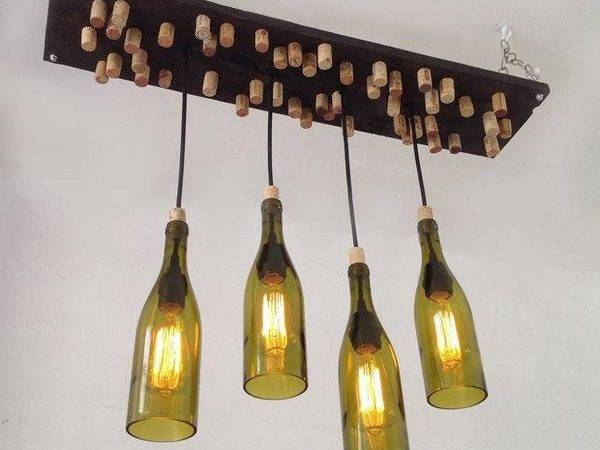 Wine Bottle Chandelier Creative Upcycling Ideas