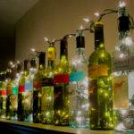 Wine Bottle Lights Surznick Common Room