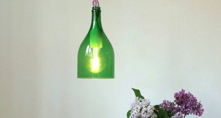Wine Bottle Pendant Light Cool Upcycling Projects