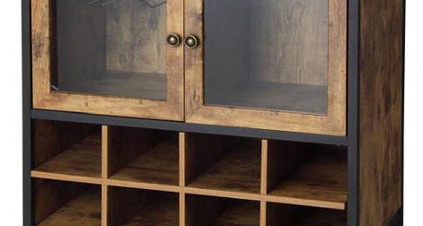 Wine Cabinet Kitchen Rustic Storage Buffet Vintage Country