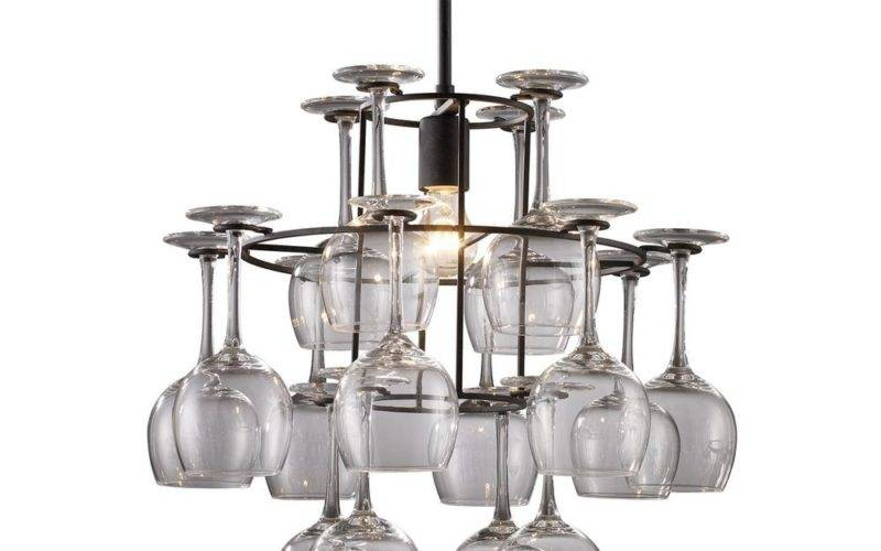 Wine Glass Chandelier Destination Lighting