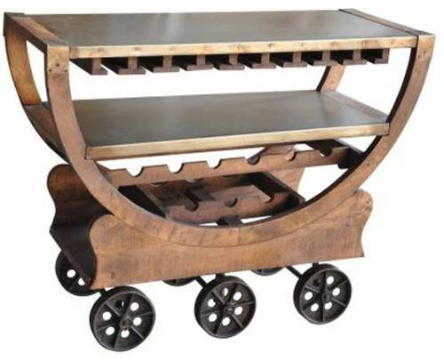 Wine Rack Rustic Bar Carts Northern Central