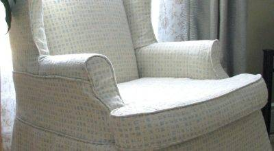 Wingback Chair Slipcover Stitches Threads