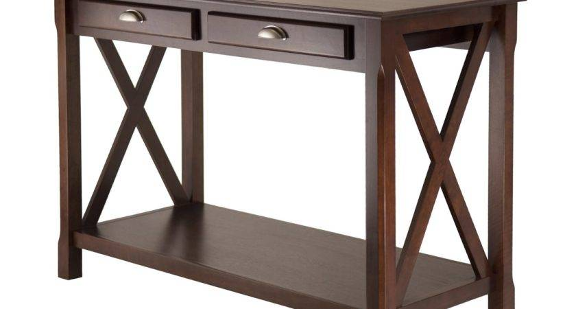 Winsome Wood Xola Console Table Drawers