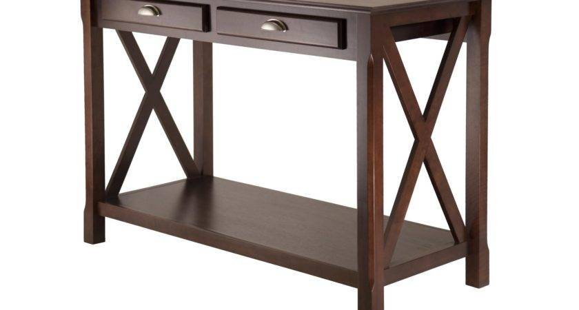 Winsome Xola Console Table Drawers Commerce