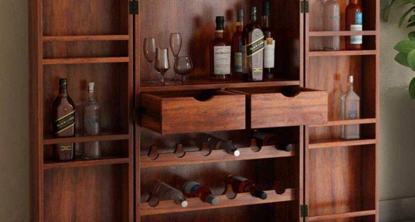 Wisconsin Rustic Solid Wood Expandable Bar Cabinet