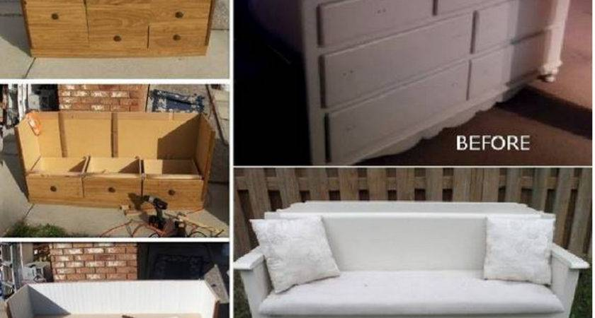 Wonderful Diy Upcycled Dresser Bench