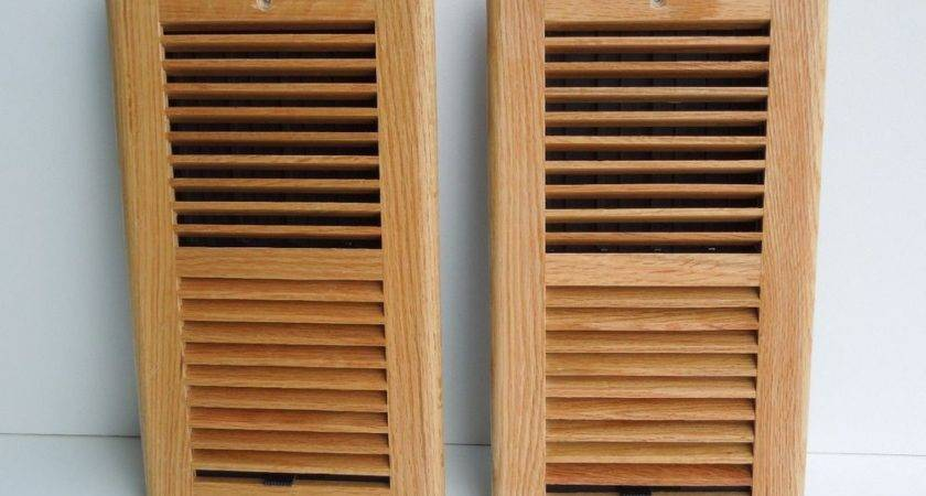 Wood Air Conditioning Vent Cover Two Pieces Ebay