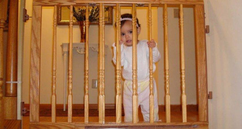 Wood Baby Gate Stairs Banister Best Gates