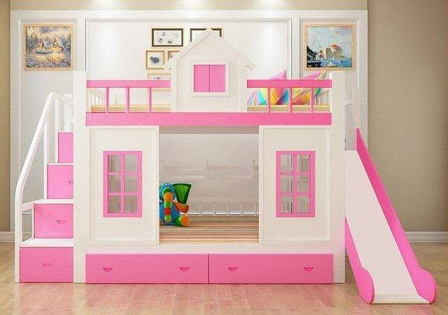 Wood Bunk Bed Stairs Slide Option Ava