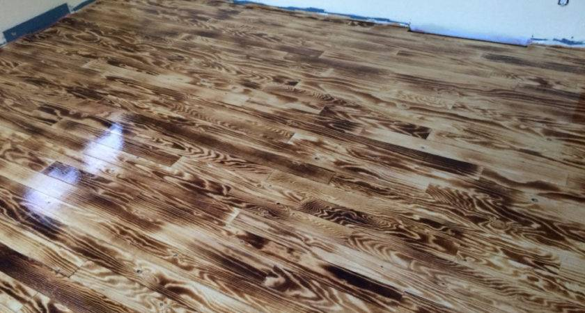 Wood Burnt Plywood Floor Houses Flooring Ideas