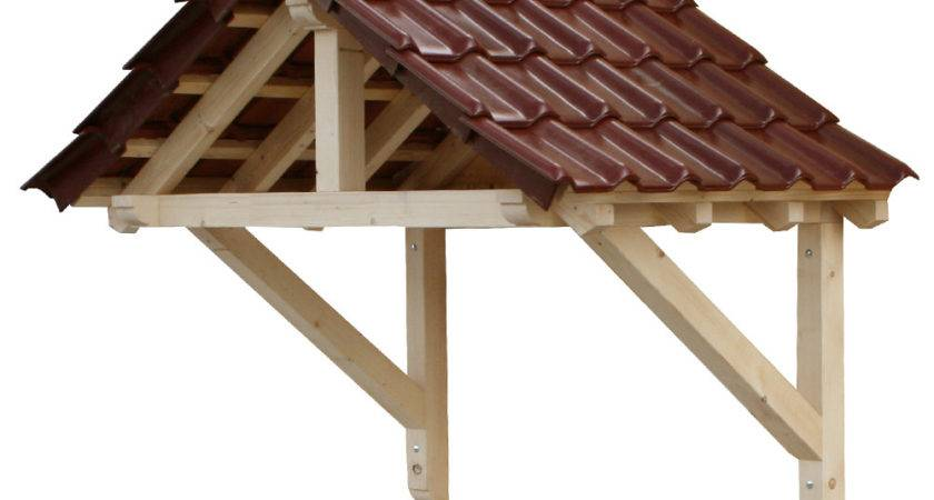 Wood Canopy Porch Door Semi Awning Panel Solid