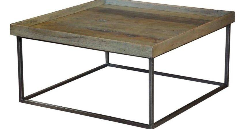 Wood Coffee Table Tray Iron Removable