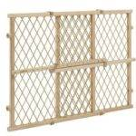 Wood Lock Position Gate Tan Evenflo Baby Safety Pet