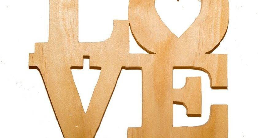 Wood Love Sign Table Wooden