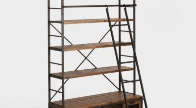 Wood Metal Bookcase Ladder World Market