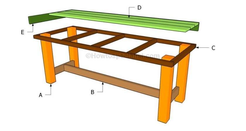 Wood Outdoor Table Diy Plans Pdf