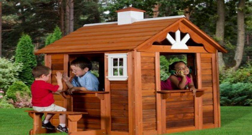 Wood Play House Cedar Cottage Playhouse Kids Outdoor