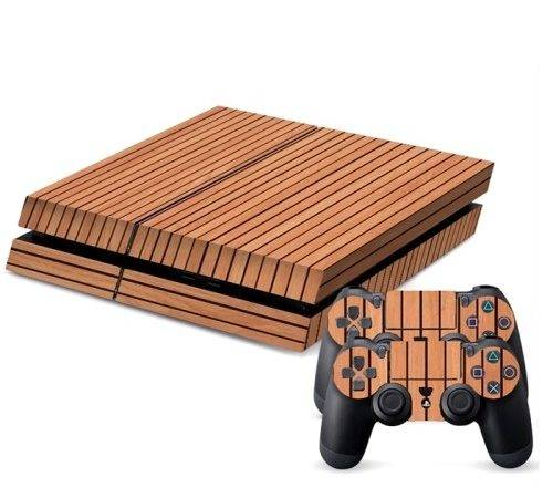 Wood Texture Decal Stickers Game Console Alex Nld