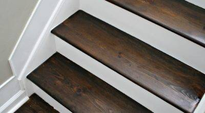 Wood White Stair Makeover Thrifty Decor Chick
