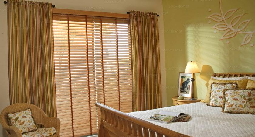 Wooden Blinds Curtains Together Home Design Ideas