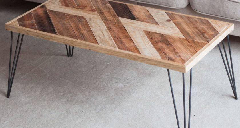 Wooden Coffee Table Hairpin Legs