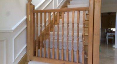 Wooden Dog Gate Stairs Latest Door Stair Design