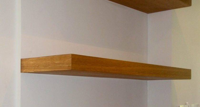 Wooden Floating Shelves Morespoons Ada