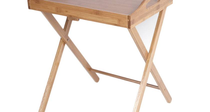 Wooden Folding Wood Tray Dinner Table Coffee Stand