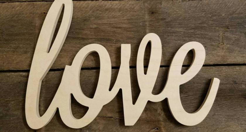 Wooden Letters Wood Love Sign Valentine Day Unpainted