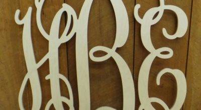 Wooden Monogram Wall Hanging Wedding Letterworld