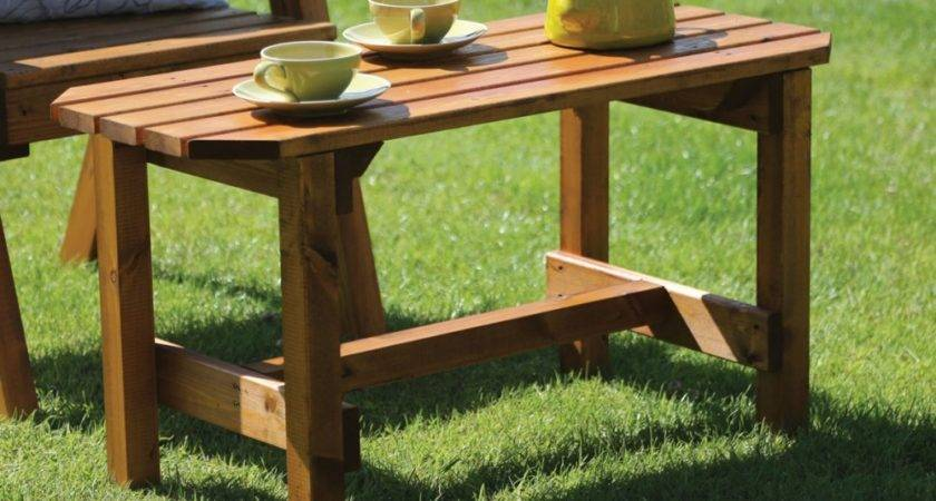 Wooden Patio Coffee Table