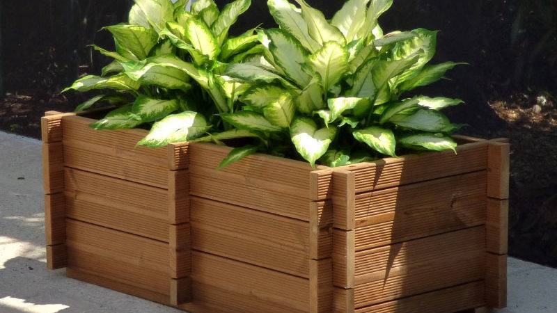 Wooden Planter Box Kits Bzbcabinsandoutdoors