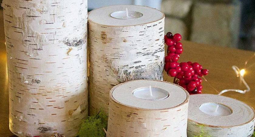 Wooden Rustic Diy Candle Holders Diyideacenter