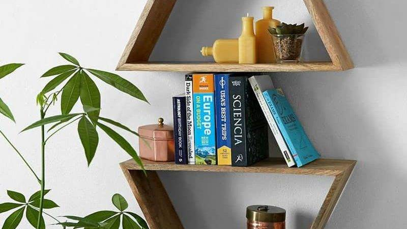 Wooden Triangle Shelves Your Modern Contemporary