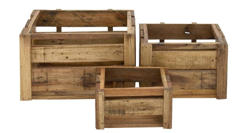 Woodland Imports Piece Rural Arty Wood Storage Crate