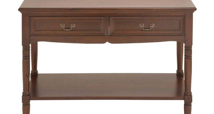 Woodland Imports Wood Console Table Atg Stores