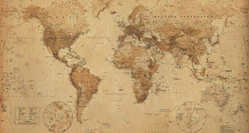 World Map Posters Antique Poster