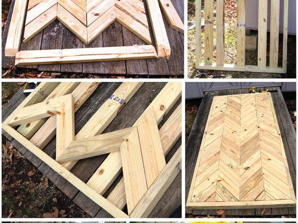 Wouldn Lovely Diy Chevron Patio Table