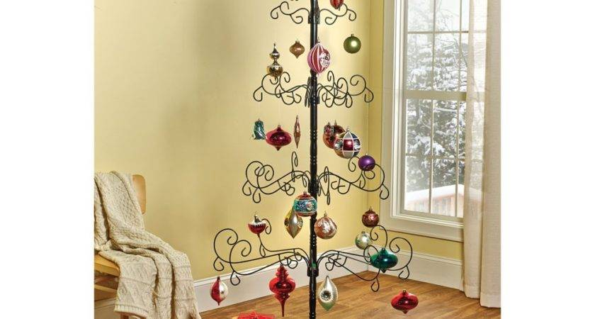Wrought Iron Christmas Ornament Display Tree Jet