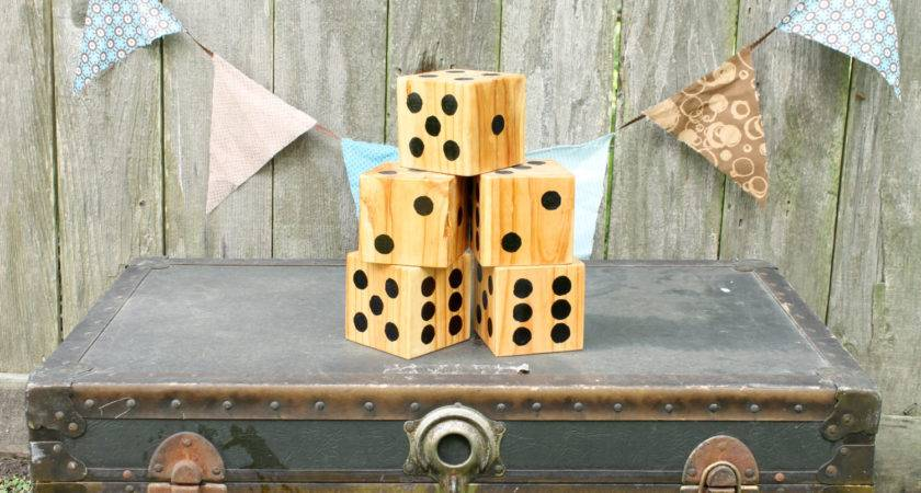 Yard Dice Set Perfect Game Outdoor Yahtzee