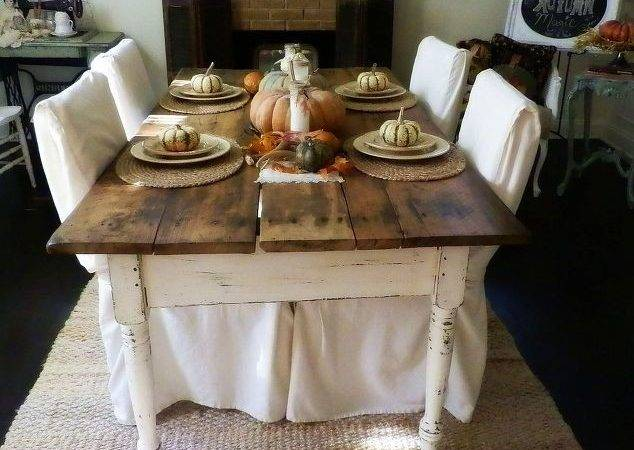 Yard Sale Find Antique Farm Table Fall Tablescape