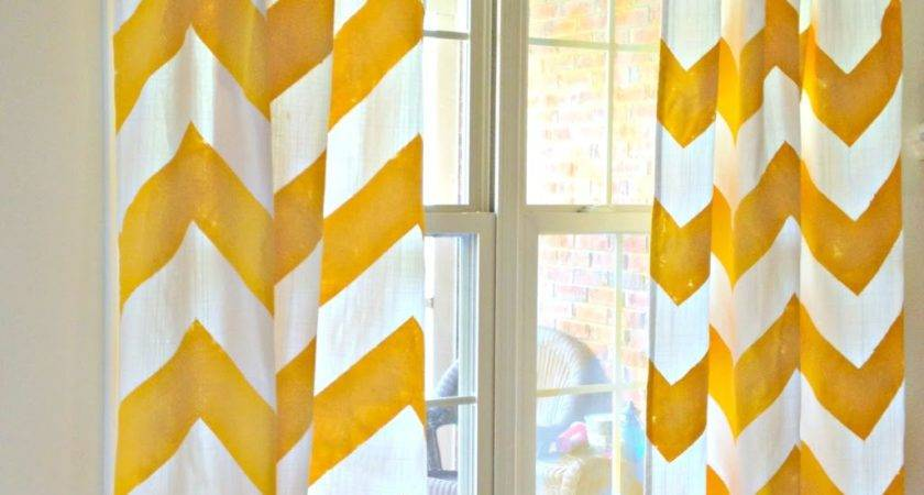 Yellow Chevron Curtains Here Comes Sun