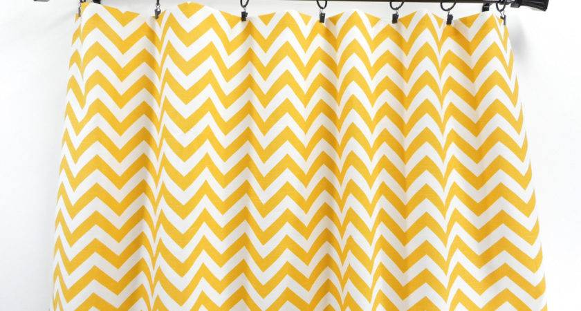 Yellow Chevron Panel Curtain