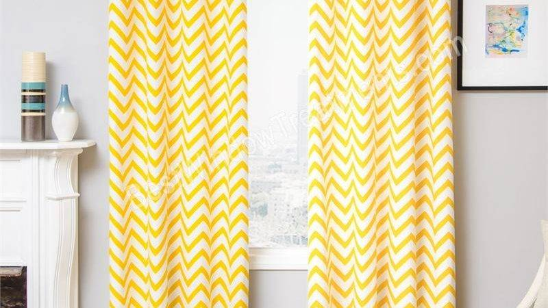 Yellow Chevron Window Curtains Myideasbedroom