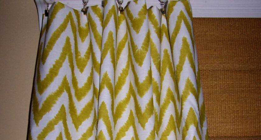 Yellow Green Chevron Curtains Premier Cathyscustompillows